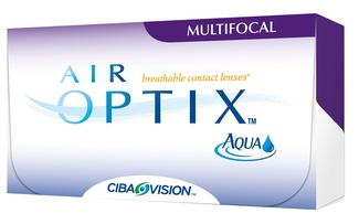Линзы на 30дней Air Optix Aqua Multifocal 3шт. Степень аддидации Cредняя 010552 Alcon