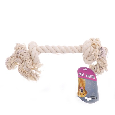 "Papillon игрушка для собак ""Канат с 2 узлами"", хлопок, 25 см, Cotton flossy toy 2 knots"