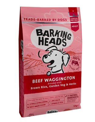 "Корм Barking Heads для собак, с говядиной и бурым рисом ""Вуф-строганов"", Beef Waggington"