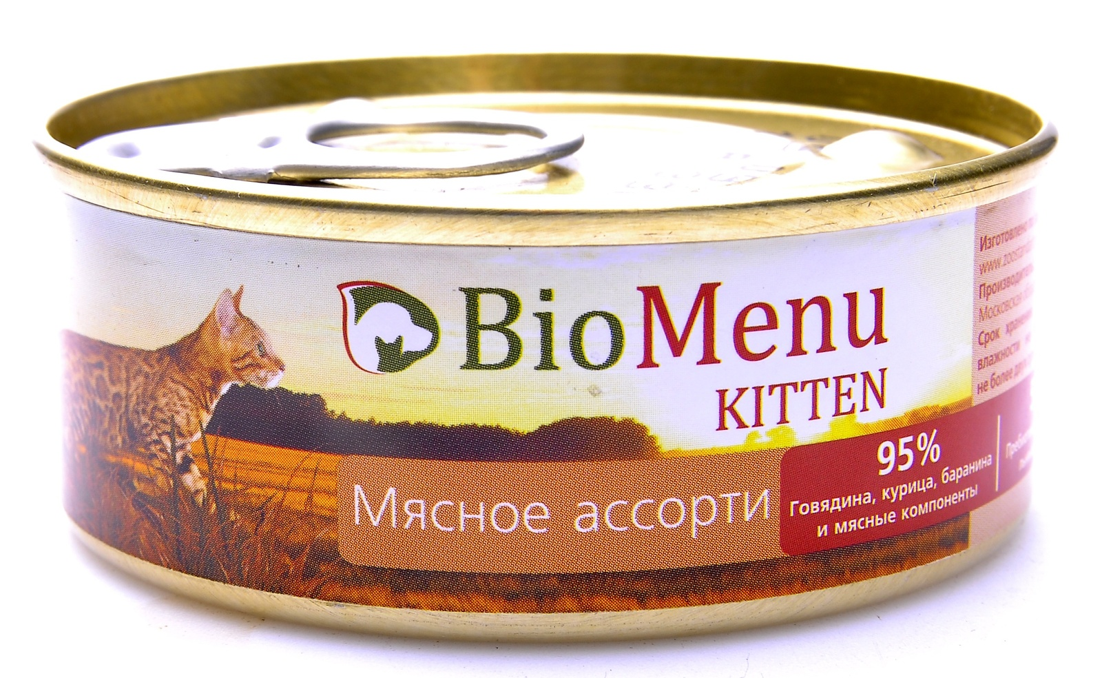 BioMenu Паштет для котят мясное ассорти (100 г)