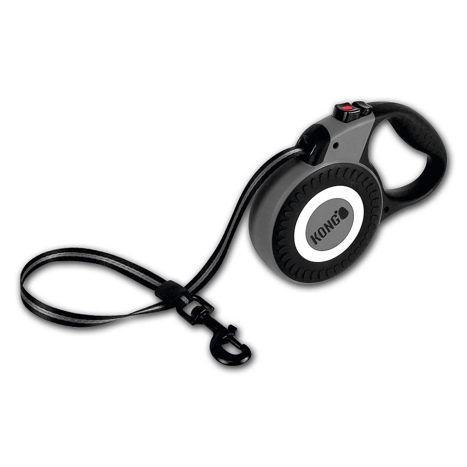 Kong Kong рулетка для собак Reflect серая, лента (M) рулетка для собак kong reflect m до 30 кг 5 м серый