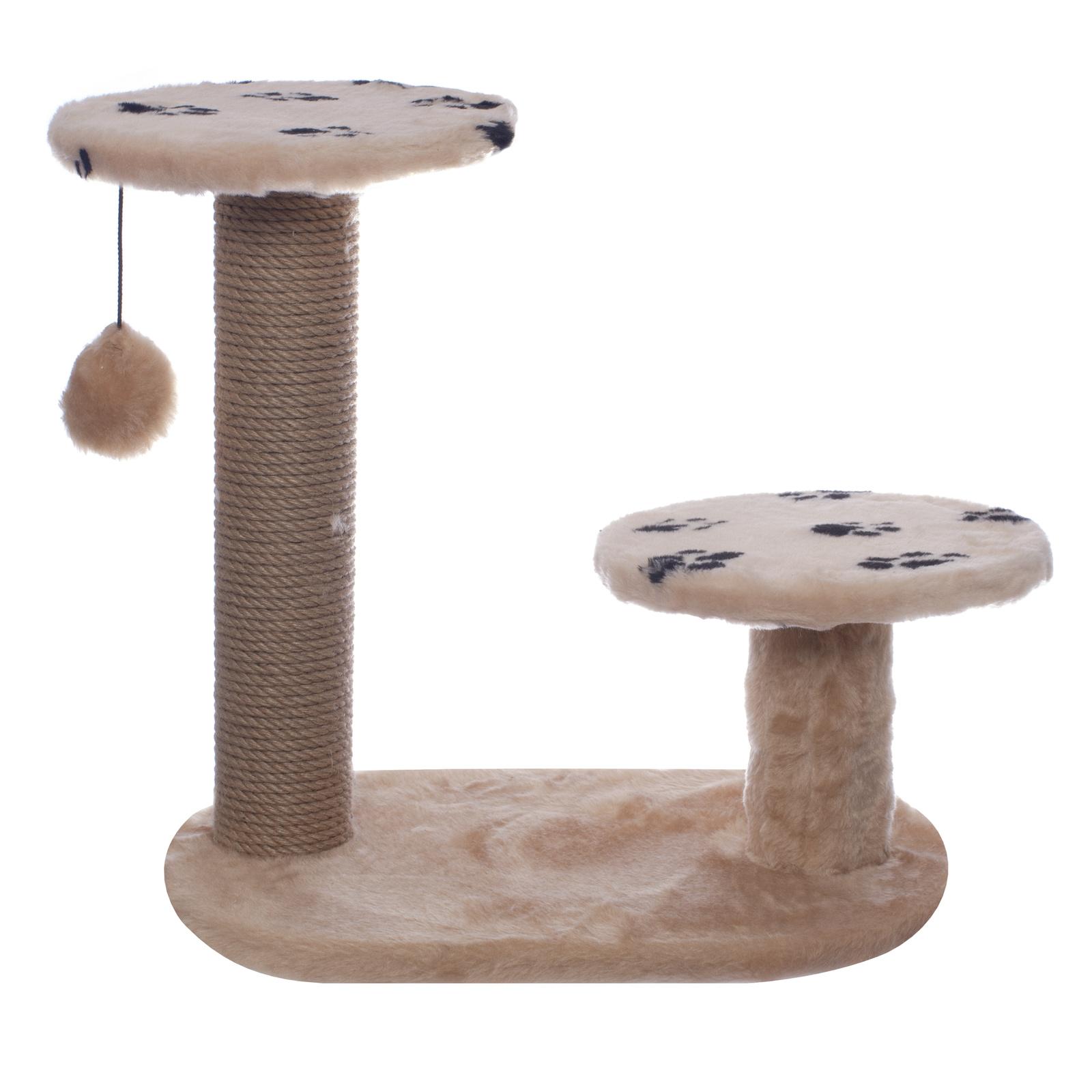 Yami-Yami Когтеточка Джут 95 , бежевая круглая, 56*36*52 см (5,25 кг) когтеточка дарэлл джут 95 круглая с 2 полками серая 56 х 36 х 52 см 1 шт