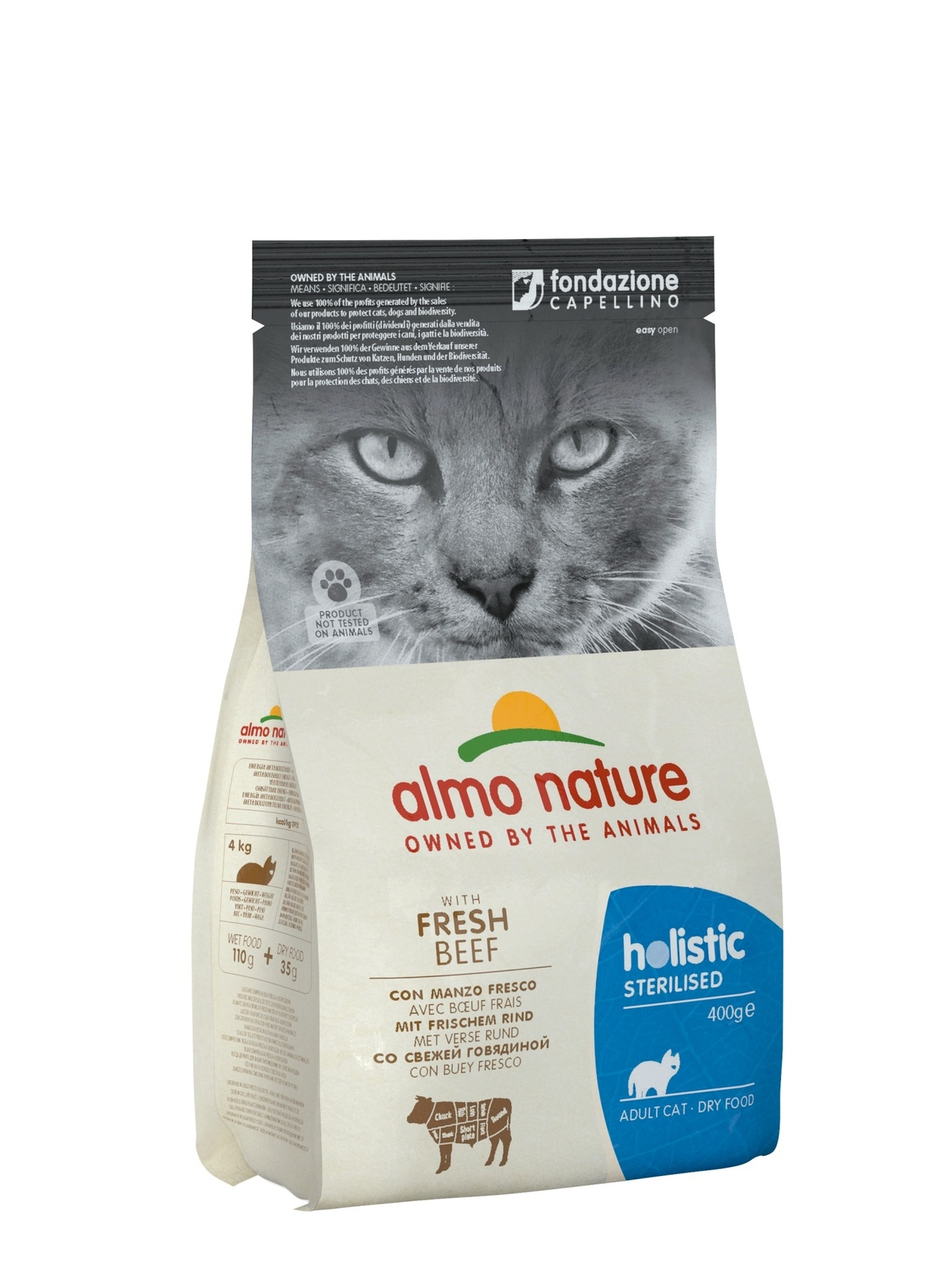 Almo Nature Для кастрированных кошек, с говядиной и рисом (2 кг)