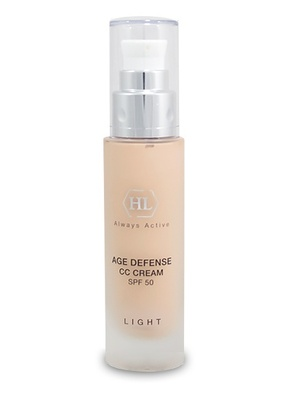 AGE DEFENSE CC Cream Light (SPF50) корректирующий крем  25030 Holy Land