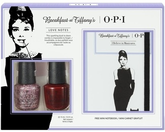 Breakfast at Tiffany's Набор 2 лака и блокнот 200281 OPI
