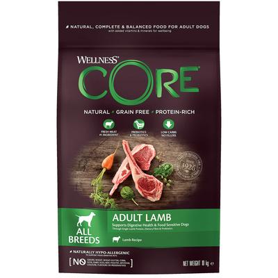 Корм Wellness CORE из ягненка с яблоком для взрослых собак всех пород
