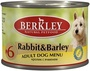 УЦЕНКА berkley Консервы для собак с кроликом и ячменем (Adult Rabbit&Barley)