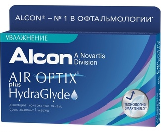 Линзы на 30дней Air Optix plus HydraGlyde  07737 Alcon