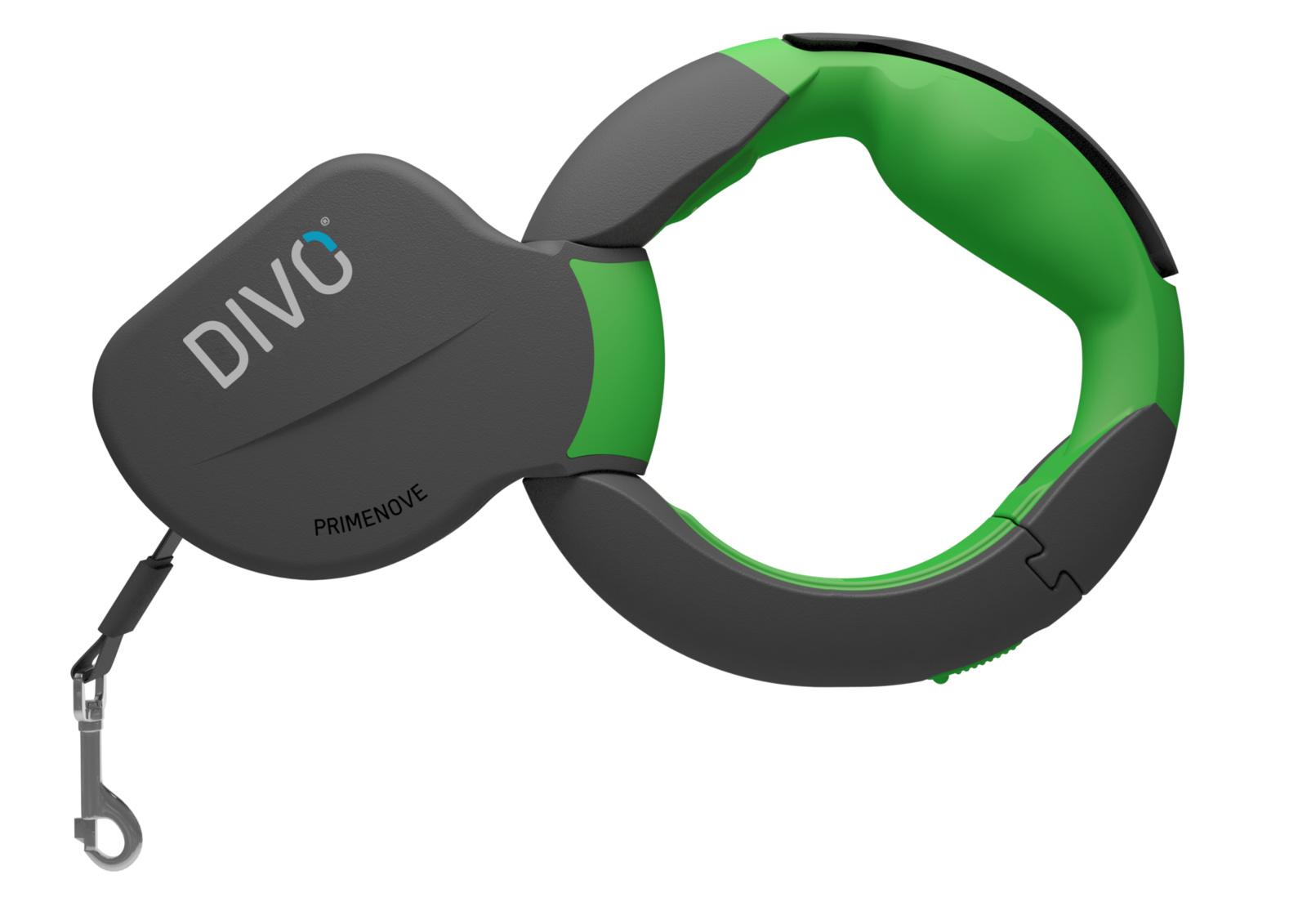 il divo brasília Divo Divo рулетка-ремень с автоматической системой торможения и эргономичной расстегивающейся ручкой (зелёная) (до 50кг, 3.5м)