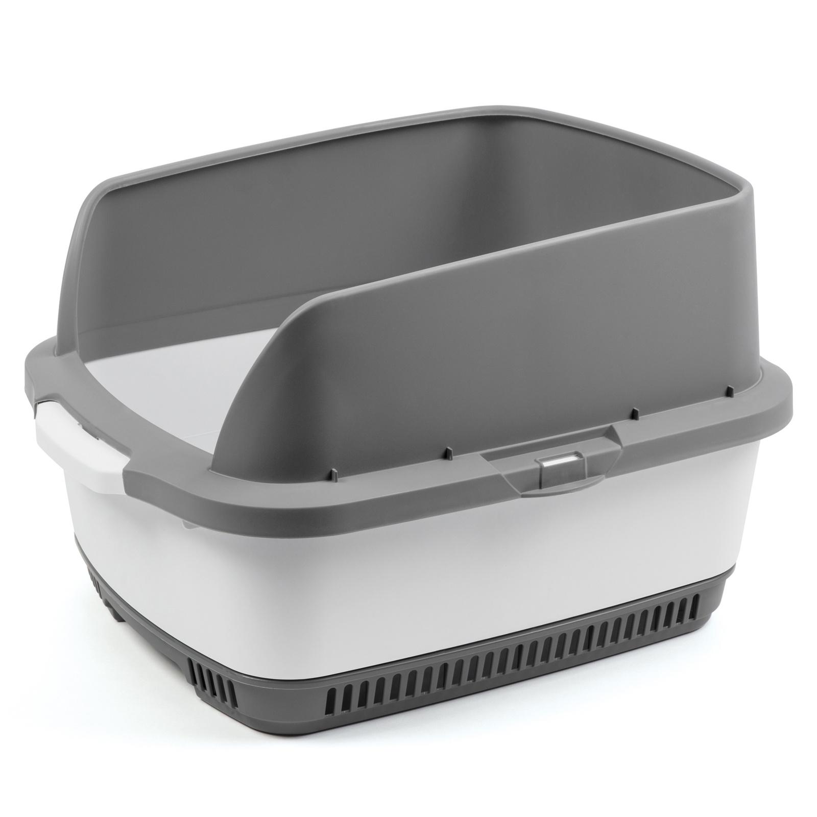 Набор Cateco: туалет, бортики, совок, 10 пеленок, серый (3 кг)