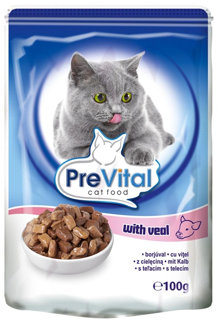 PreVital Паучи классик в соусе с телятиной (100 г)