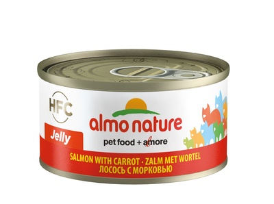 Almo Nature консервы для кошек с лососем и морковью, Legend HFC Adult Cat Salmon&Carrot