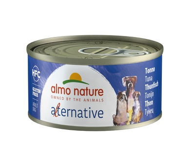 "Almo Nature Alternative консервы для собак ""Тунец"", 55% мяса, HFC ALMO NATURE ALTERNATIVE DOGS TUNA"