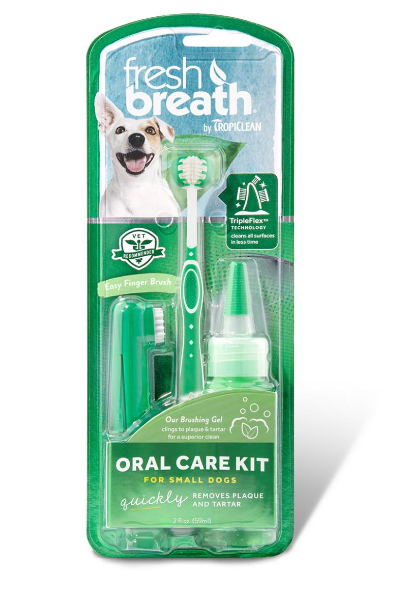 Tropiclean Tropiclean набор Свежее дыхание для ухода за зубами для собак малых пород (150 г) tropiclean fresh breath gel vanilla mint гель для собак для чистки зубов ваниль и мята 59 мл