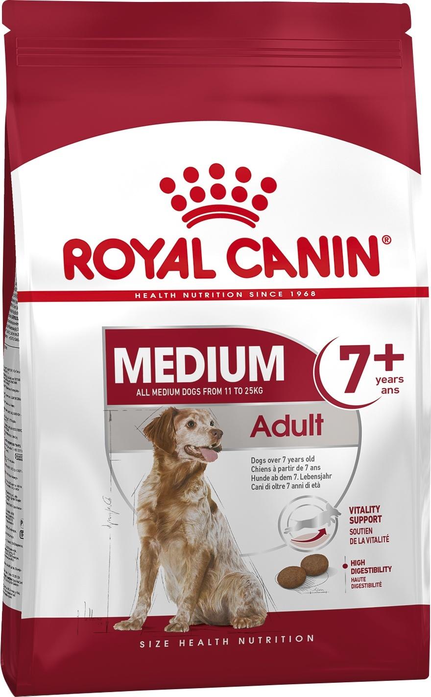 Royal Canin (сухие корма) Для пожилых собак средних размеров: 11-25 кг, 7-10 лет (4 кг)