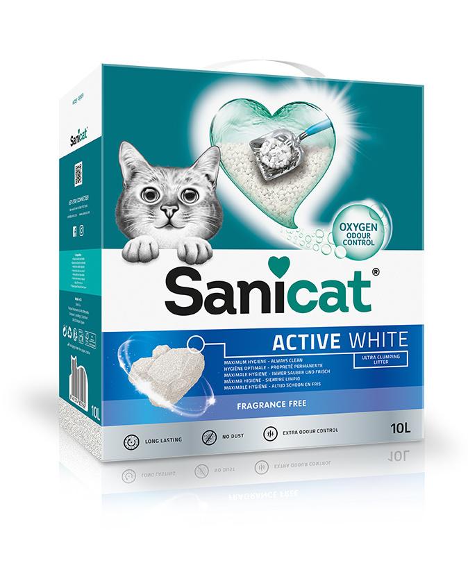 Sani Cat Белоснежный ультракомкующийся наполнитель без аромата (10 л)