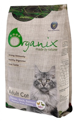 Organix (сухие корма) для кошек, курица, утка и лосось, Adult Cat Chicken, Duck, Salmon