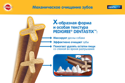 Pedigree лакомство для собак крупных пород, Pedigree DentaStix