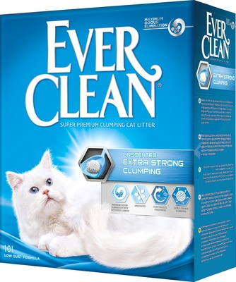 Ever Clean комкующийся наполнитель без аромата, Extra Strong Clumping Unscented
