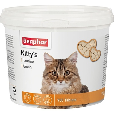 Beaphar кормовая добавка с биотином и таурином для кошек, Kitty's + Taurine-Biotine
